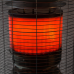 Glow Warm 11kw Bullet Area Floor Standing Outdoor Table Patio Heater in Black or Stainless Steel