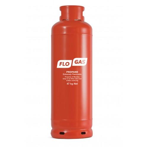 Flogas 47kg Commercial Propane Gas Bottle (Screw Type) Refill