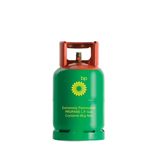 BP Green BBQ Propane Gas Bottle 6kg Refill